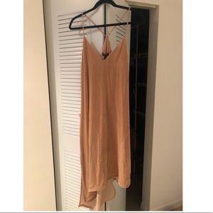 BCBG suede beige dress Sz M